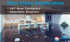 Marvelous Restoration offering 24/7 hour emergency and immediate response for water damage.