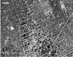 Detroit Freeways (overlay of four aerial pictures)