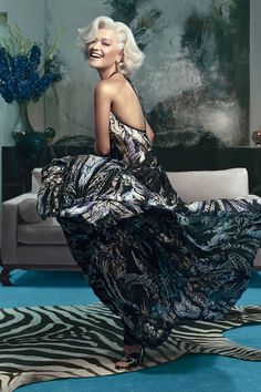 Rita Ora is transformed into a modern day Marilyn Monroe in Roberto Cavalli's Autumn/Winter 2014 campaign. See more stellar ad campaigns from Fall 2014 here!