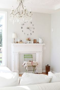 dreamy whites: french farmhouse inspired living