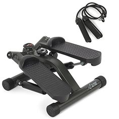 Akonza Portable Fitness Twister Stepper with (2) Resistance Cords, LCD Display Screen * Click image for more details.