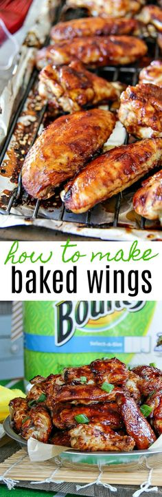 How to make the best baked barbecue wings for game day parties and celebrations.  #PartyOnMom #ad