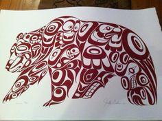 Native American Tribal Beading Patterns   Native American tattoos / designs-haidagrizzlyjonathanerickson.jpg