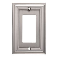 allen + roth Cosgrove 1-Gang Satin nickel Single Decorator Wall Plate