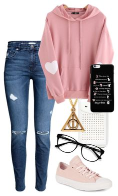 """""""Untitled #79"""" by niced445 ❤ liked on Polyvore featuring Alex and Ani, WithChic, EyeBuyDirect.com and Converse"""