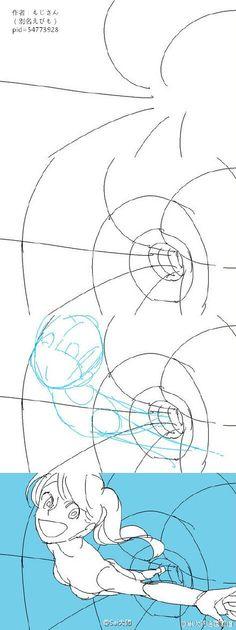 #绘画学习# 绘师もじさん的设计构图参考...