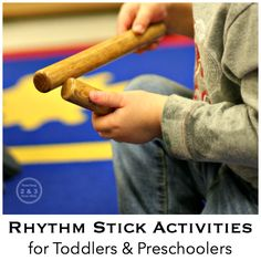 There are so many advantages to using rhythm sticks with toddlers and preschoolers. This collection includes activities and resources to get you started at home or school.