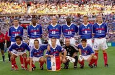 France 1998 - The unbeatable team (Laurent Blanc missed the final match so he's not on the pic)