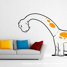 DINOSAURS WALL STICKER DECAL wall mural NURSERY quote d2