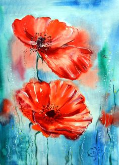 Images For > Easy Acrylic Flower Painting