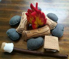 Childrens felt campfire play set #3940 photography prop