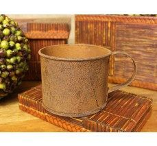Our 5x3x3in Rusty Tin Cup makes a wonderful planter for all types of flowers and plants. This rusty tin cup looks equally beautiful as an indoor planter or in the yard as an outdoor planter. It looks especially nice with Succulents and Cactus and will make a wonderful addition to your Succulent Plants and Cactus collection.  Our Rusty Tin Cup is perfect to add to your home or office to create that rustic look!  This Succulent Planter would also make a perfect gift for any very special…