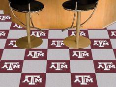 Texas A&M Aggies Carpet Tiles. Visit SportsFansPlus.com for a Discount Coupon.