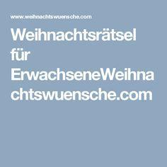 Weihnachtsrätsel für ErwachseneWeihnachtswuensche.com