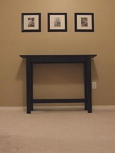 DIY Sofa Table...looks great & maybe Jeff will help to make it...