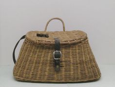 Vintage Creel Basket // Fish Basket // Camp Decor // by MyBarn, $45.00