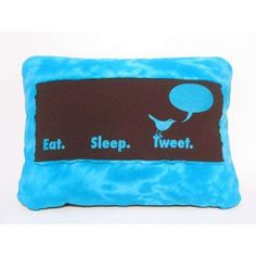 Social Media Cushions The Twitter Pillow Shows Your Love for Tweeting... ❤ liked on Polyvore