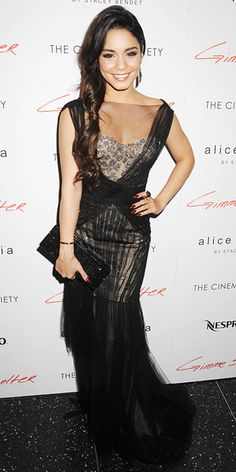 Look of the Day - January 23, 2014 - Vanessa Hudgens in Monique Lhuillier from #InStyle