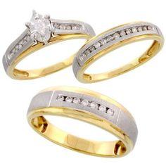 wedding ring sets with colored stones : weddingfeshion.com