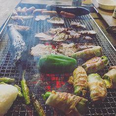 Best of the Best. 最高の自然で、最高の食材。。。ヨーロッパ出発前の活力。あー、毎日BBQしたい。 #熊本 #山都町 #山奥 #大自然 #電波なし #肉 #米 #BBQ #ヨーロッパ
