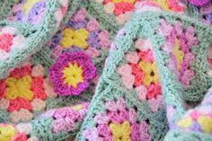 Crochet Granny square blanket, Helen Philipps.