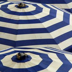 """""""Blue and White Umbrellas""""  by CatRup"""