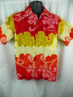 475c1d09 Vintage Diamond Head Aloha Hawaiian Shirt Floral Wide Collar 100% Bark  Cotton L #DiamonHeadSportswear