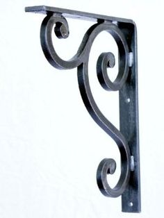 Decorative Forged Wrought Iron Shelf or Granite Counter Top Bracket 9 x 11 x 1 ¼