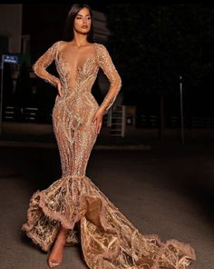 Long Sleeve Evening Dresses, length Mother of Bride Ball Gowns Dresses Elegant, Glam Dresses, Event Dresses, Pretty Dresses, Fashion Dresses, Girls Dresses, Formal Dresses, Reception Dresses, Wedding Dresses