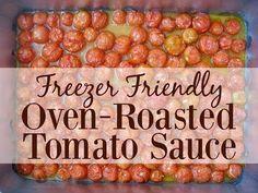 Oven-Roasted Cherry Tomato Sauce (Freezer-Friendly!) - Graceful Little Honey Bee