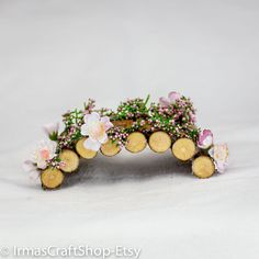 Fairy Garden Beautiful Bridge Fairy Accessories by IrmasCraftShop - Jolene's Gardening