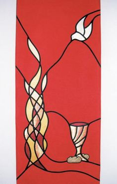 Communion or Pentecost - ideas Church Banners Designs, Stained Glass Church, Banner Ideas, Prophetic Art, Christian Symbols, Biblical Art, Church Crafts, Sacred Art, Religious Art