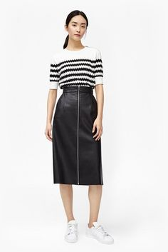 Atlantic Faux Leather Midi Skirt | Skirts & Shorts | French Connection