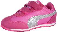 PUMA Whirlwind V Sneaker (Toddler/Little Kid),Fluroscent Pink/Puma Silver,8 M US Toddler  for more details visit :http://sports.megaluxmart.com/