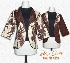 Bolero batik atau cardigan batik terbuat dari bahan katun primis sehingga adem dan nyaman dipake. Bisa bolak balik