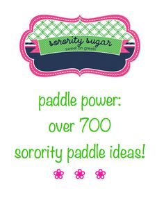 Are you crafting for your big/little during winter or summer break? Need some paddle and plaque inspiration? View hundreds of creative examples for inspiration on the sorority sugar blog. XOXO