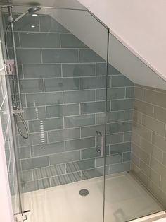Attic Shower, Small Attic Bathroom, Small Shower Room, Loft Bathroom, Upstairs Bathrooms, Bathroom Layout, Bathroom Interior Design, Loft Ensuite, Bathroom Ideas