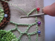 Irish crochet motifs - how to attach them