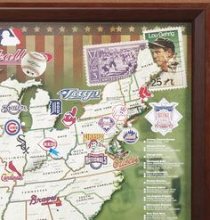 Baseball Stadiums Gift Ideas Pinterest Baseball Stuff And - Us map of baseball stadiums