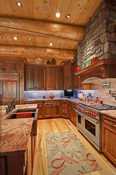 cool Log Homes, Log Cabins, Custom Designed - Timberhaven Log Homes - Log Home G. - cool Log Homes, Log Cabins, Custom Designed – Timberhaven Log Homes – Log Home Gallery - Log Cabin Kitchens, Log Cabin Homes, Log Cabins, Diy Cabin, Cabin Ideas, House Ideas, Log Home Living, Log Home Interiors, Log Home Plans