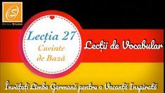 Lecția 27 -Cuvinte de Bază - Lecții de Vocabular in Limba Germană - YouTube Chart, Youtube, Youtubers, Youtube Movies