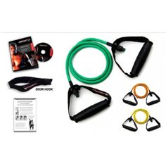Ripcords Resistance Exercise Bands - Beginner Tension 3 Pack, Circuit7 DVD, Door Anchor and Manual *** Be sure to check out this awesome product. (This is an affiliate link) #ExerciseFitnessAccessories