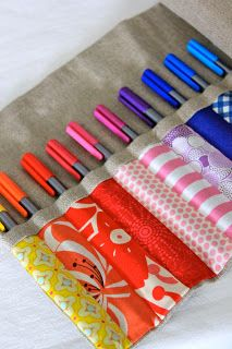 Perfect storage idea for knitting needles
