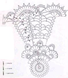 Фотография Crochet Doily Diagram, Crochet Chart, Crochet Motif, Crochet Doilies, Crochet Flowers, Crochet Stitches, Crochet Patterns, Hair Brooch, Crochet Needles