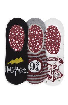 Primark - Pack de 3 pares calcetines Harry Potter