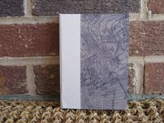Hardcover Journal/Sketchbook - Blank Inside Pages - Blueprint Cover w/Cream Book Cloth on Etsy, $38.00