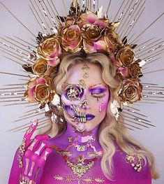 Halloween 2019 is approaching. Have you planned your Halloween makeup? If not, let's take a look at our 50 + most scared and cool Halloween makeup, hoping to give you the greatest inspiration. Skull Makeup, Fx Makeup, Makeup Goals, Makeup Stuff, Cool Makeup, Makeup Eyeshadow, Vanessa Davis, Foto Poster, Cool Halloween Makeup