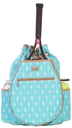 Ame & Lulu Ladies Tennis Backpacks - Lagoon #nicolestennisboutique