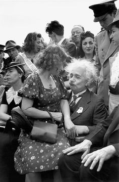 New York, New York 1939. Albert Einstein with his daughter on his lap at the opening of the Jewish Pavillion at the World's Fair in Flushing Meadows in Queens.