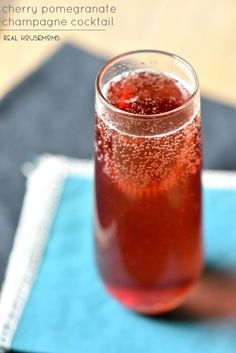 Cherry Pomegranate Champagne Cocktail